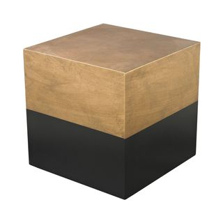 Table en cube DRAPER noir et or